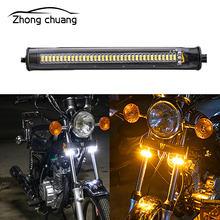 2 piece set highlight 3014 universal motorcycle Harley 36SMD turn signal running light license plate