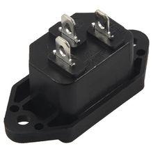 Винтовое крепление 3 шпильки IEC320 C14 Входная розетка переменного тока 250 В 10 а черная упаковка из 2 промо-акций