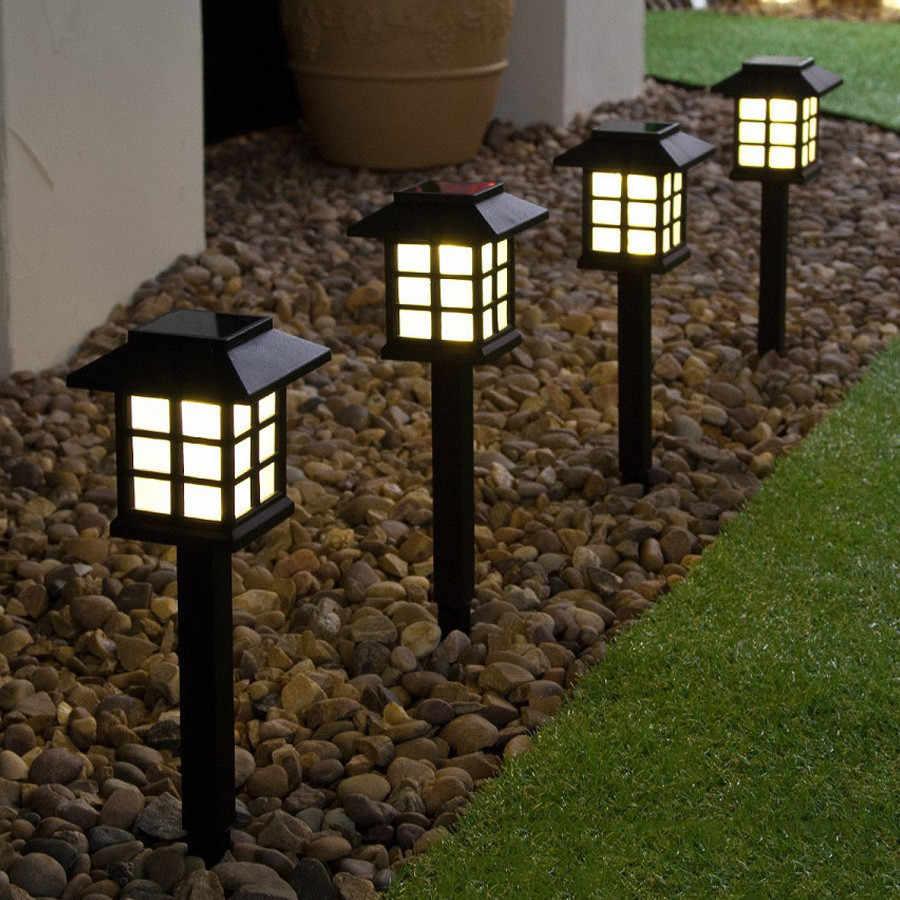 Уличные садовые на солнечных батареях свет светодиодный дом небольшой дом Газон лампа двора
