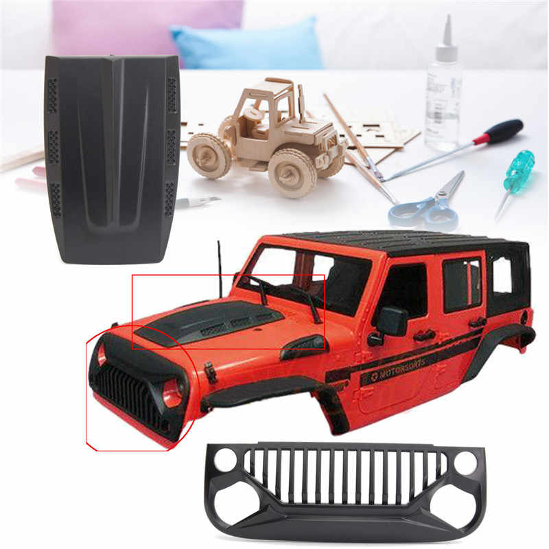 Belum Dirakit 12.3 Inch 313 Mm Plastik Kecepatan Wheelbase Body Mobil Shell untuk 1/10 RC Mobil Tubuh Shell Kanopi Merah untuk wrangle Axial SCX10