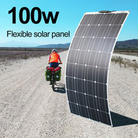 panel solar 12v 100W solar panel 200 watt photovoltaic solar cell Flexible Solar module for car home