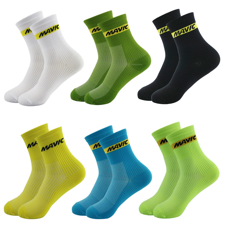 Professional Cycling Socks High Cool Tall Mountain Bike Socks Outdoor Sport Compression Socks Sale Running Socks
