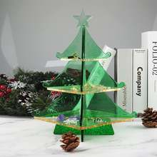 Рождественский лоток для дерева силиконовая форма органайзер