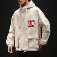Quality 2019 Autumn MEN'S Jacket Hooded Loose-Fit Casual Teenager Short Applique Men Coat Large Size Men's
