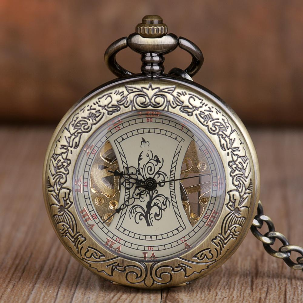 Wholesale Luxury Mechanical Movement Men Women Pocket Watch Stainless Steel Steampunk Pocket Watches With Chain