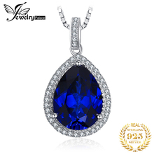 New Luxury HUGE 11.08ct Water Drop Cut  Blue Sapphire Pendant Women Wedding Set Pure 925 Sterling Solid Silver Free Shipping