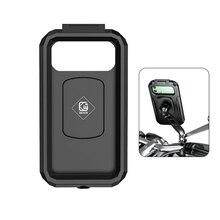 "Waterproof Case Bike Motorcycle Handlebar Rear View Mirror 3 to 6.8"" Cellphone Mount Bag Motorbike Scooter Phone Stand"