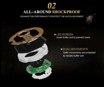 SMAEL Men Sports Watch Military Watches LED Quartz Dual Display Waterproof Outdoor Sport Men's Wristwatches Relogio Masculino 3