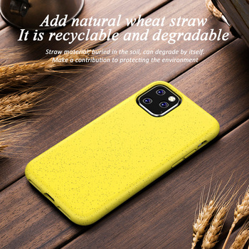 Nature Wheat Straw Matte TPU Drop Protection Phone Case for IPhone 6 7 8 Plus X XR XS 11 Pro Max Yellow Red Black Back Cover