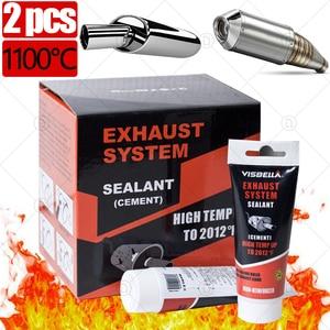 Image 1 - Mastic adhésif pour réparation de tuyau déchappement de voiture, 2 pièces, colle de remplissage, haute température, moto, outil de réparation automobile, pâte de colle 75g