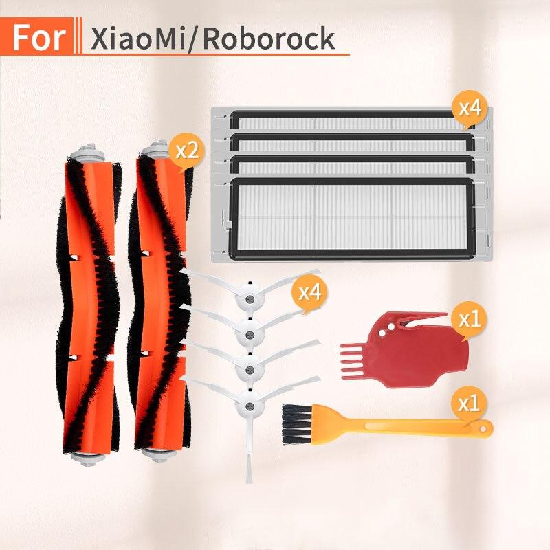 Robot Vacuum Cleaner Main Brush Side Brush HEPA Filter Parts Kit For XIAOMI 1/2 Roborock S50 S51 S6 S55 Vacuum Cleaner Parts