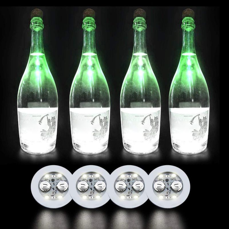 Hot LED Bar Coaster, LED Stickers Light Up Bar Coasters For Drinks,For Party Wedding Bar Random Colour