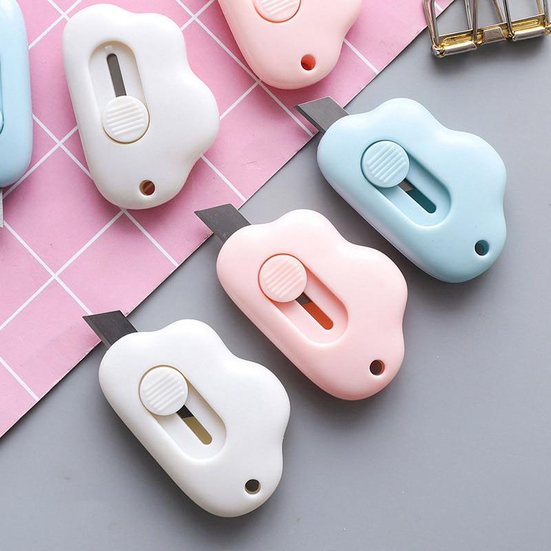 Creative Mini Knife Box Cutter Cute Kawaii Plastic Art Knife For Kids Gift Office School Supplies Student Stationery