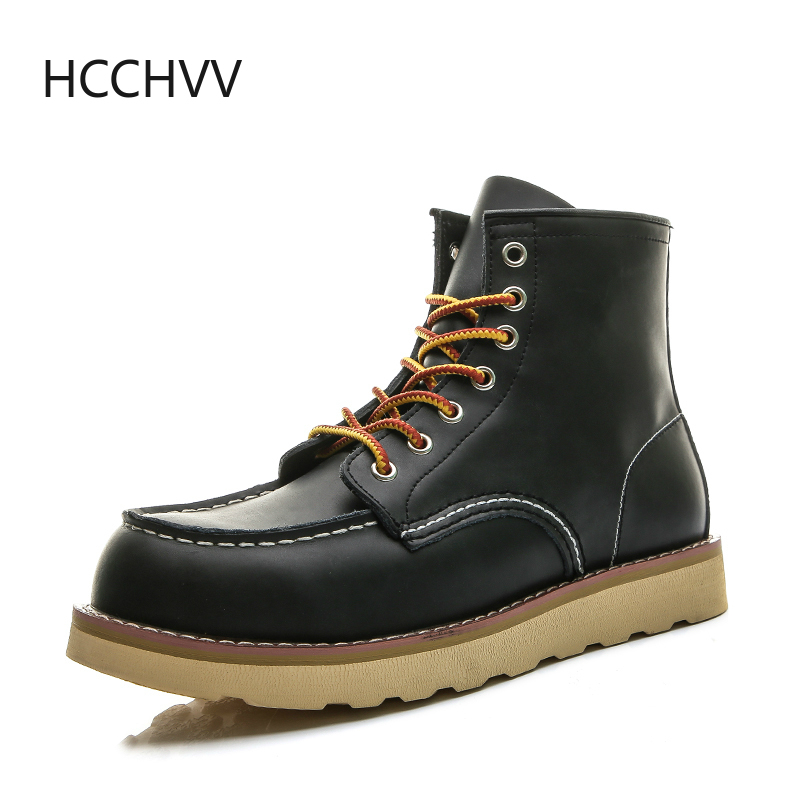 Red Black Mens Shoes Desert Boots Keep warm Vintage Culture Wings Rookie mens Timber boots motorcycle boots Western Style