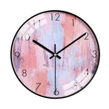 Luxury Metal Wall Clock Simple Nordic Silent Living Room Clock Wall Creative Reloj De Pared Moderno Home Decor Wall Watch MM60WC