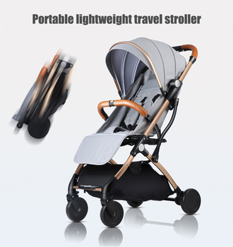 Light Weight Travel Baby Stroller 6pcs Gifts Portable Can Sit And Lying Folding Baby Pushchair High Landscape Newborn Stroller mini light small baby stroller baby carriage cart portable foldable travel system car stroller airplane pram can sit flat lying
