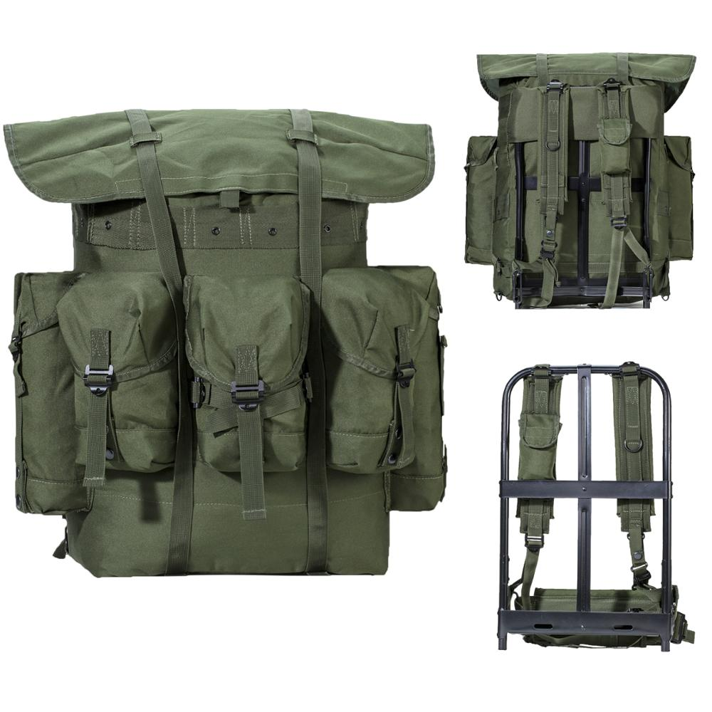 Military Surplus Alice Pack Army Survival Combat Alice Rucksack Backpack with Frame Olive Drab(China)