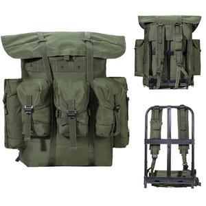 Mochila militar de Alice, paquete de supervivencia del ejército, mochila de combate Alice con marco de oliva Drab