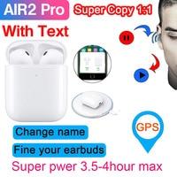 Air2 Pro TWS Drahtlose Bluetooth 5 0 Kopfhörer mit Text Ändern name GPS Smart Sensor 1536U PK H1 chip i30 i200 i500 i9000 Pro tws-in Handy-Ohrhörer und Kopfhörer Bluetooth aus Verbraucherelektronik bei