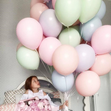 20pcs/lot 10inch Multicolor Macaron Balloons Pastel Candy Latex Inflatable Balloon Baby Shower Birthday Wedding Party Decoration