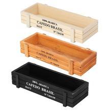 Деревянный кашпо многофункциональный деревянный цветочный горшок для суккулентных растений ящик для хранения Органайзер для горшечных растений деревянный ящик для кашпо