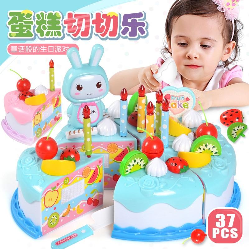 Children Toy  Pretend Play  The Simulation  The Kitchen  The Birthday  Kitchen Toys Cake  Fruit Saichele DIY Gift Kids Toy