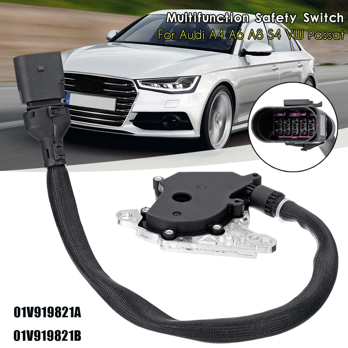 01V919821B Neutral Multifunction Safety Switch For Audi A4 A6 A8 S4 for VW Passat image