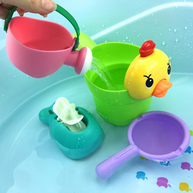 Baby Bath Toys Baby Play Cute Animal Shampoo Cup Shower Toys