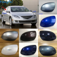 HengFei accesorios originales para auto para Mazda 6 2009 ~ modelo 2015 inversa cubierta del espejo sedán espejo CASO DE sin luces
