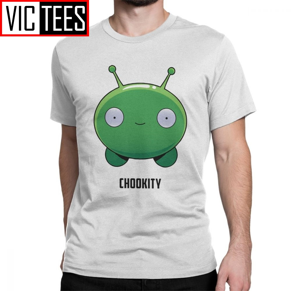 Final Space Mooncake Chookity T-Shirt For Men Short Sleeved Funny Tees Cotton Clothes Normal T Shirt