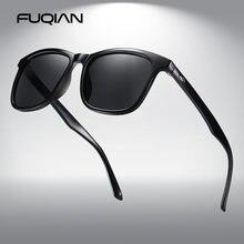 Модные квадратные мужские солнцезащитные очки fuqian роскошные