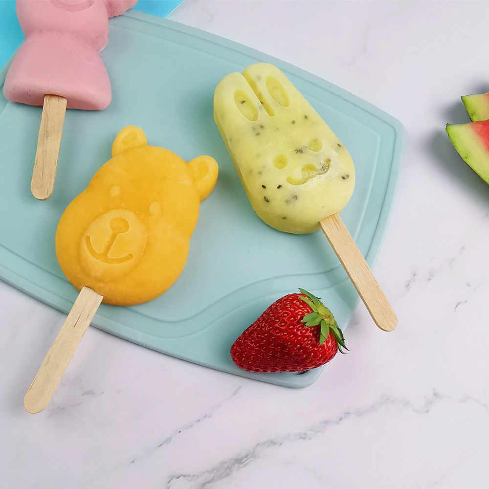クリエイティブアイスクリームモールドホーム diy 自家製漫画アイスクリームアイスキャンデーバーアイスクリームシリコーンアイスキャンディーキャンディーバーアイスクリーム