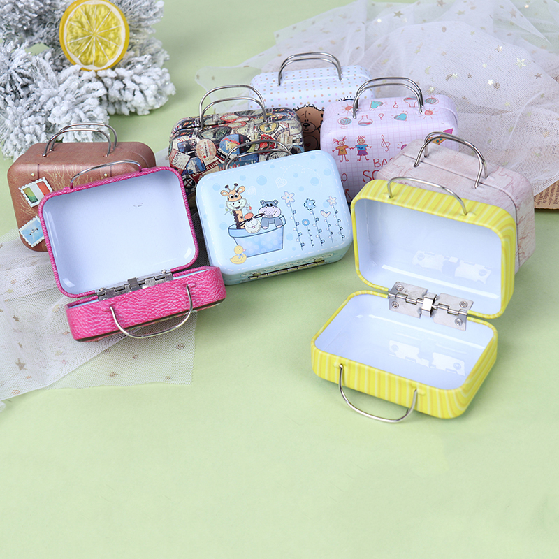 Fashion Metal Mini Suitcase for Dolls Miniature Toys Trunk Dollhouse Decoration Lovely Small Clutch Jewellery Box Doll Handbag|Dolls|   - AliExpress