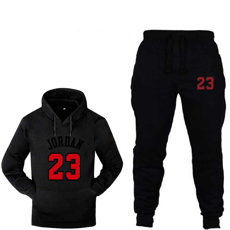 Men's Hooded Sweatshirt Suit Fashion 2019 Autumn Brand Casual Sportswear Men's Two-piece Sports Fitness Running Suit