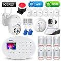 KERUI wifi GSM домашняя система охранной сигнализации с 2,4 дюймовой TFT сенсорной панелью приложение управление RFID карта беспроводной умный дом Ох...