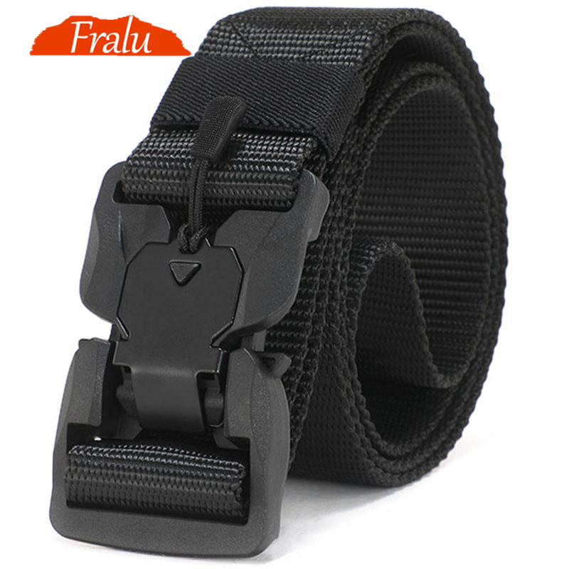 NEW Military Equipment Combat Tactical Belts for Men US Army Training Nylon Metal Buckle Waist Belt Outdoor Hunting Waistband(China)