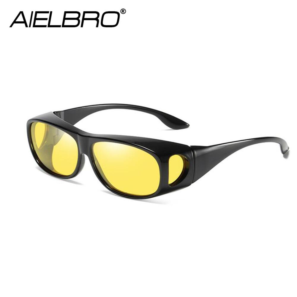 AIELBRO Night Vision Driver Goggles Polarized Sunglasses Unisex Sun Glasses Eyewear UV Protection Car Driving Glasses For Driver