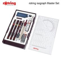 Rotring Master /Junior Isograph 리필 잉크 다공성 펜 그리기 도구 세트