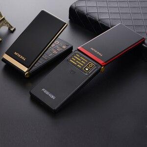 "Image 4 - Tkexun Dual Screen 2.8 ""Touch Display Flip Telefoon Lange Standby Sos Snelheid Call Grote Sleutel Bt 2.0 Blacklist Torch twee Sim Gratis Case"
