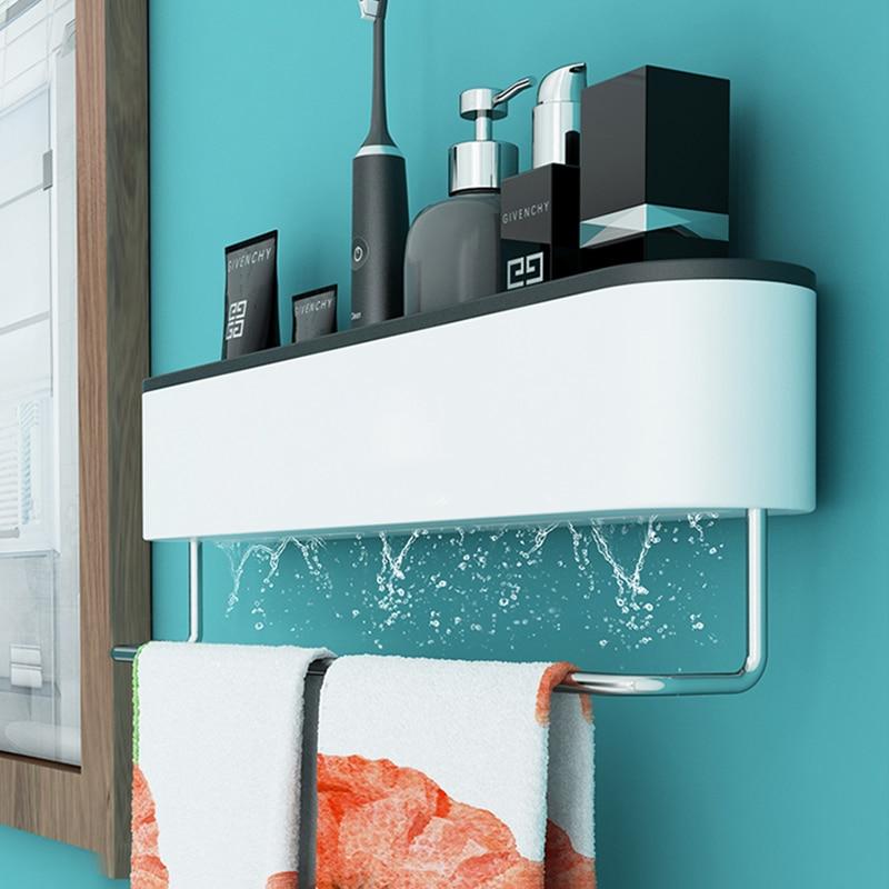 ONEUP Wall Bathroom Shelf Shampoo Cosmetic Shower Shelf Drainage Storage Rack Home WC Bathroom Accessories Towel Storage Rack 5