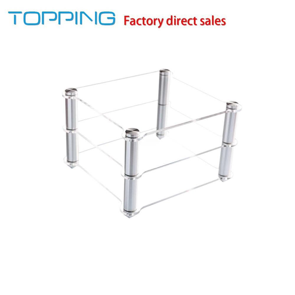 TOPPING Acrylic Rack For D30 Decoder A30 HIFI Amplifier Amp rack Transparent equipment two layer Rack