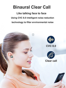 Image 5 - F9 TWS Bluetooth Wireless Earphone 5.0 Headphones Touch Control Earbuds Waterproof Stereo Music Headset With Power Bank HD Mic