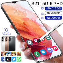 Novo samsug s21 + 5g android11 16gb 512g versão global deca core 6.7 Polegada smartphone 6800mah tela cheia lte rede telefone móvel