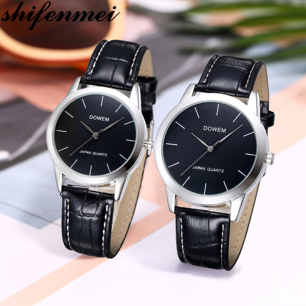 Shifenmei Couple Watches Pair For Men And Women Fashion Minimalist Quartz Wristwatch Waterproof Clock Lovers Watch Gifts 2020
