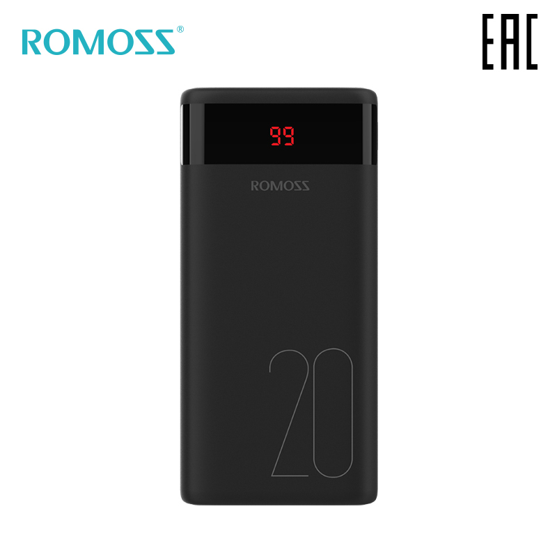 External Battery Romoss Mini Ares 20 20000 mAh with indication of charge bank with indicator [delivery from Russia]-in Power Bank from Cellphones & Telecommunications on AliExpress