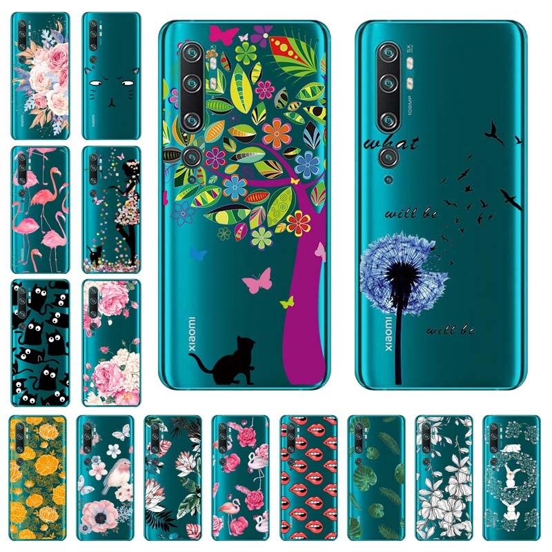 Clear TPU Case For Xiaomi Mi Note 10 Pro Case Soft Transparent Funda For Xiomi Mi Note 10 Lite 9T A3 Redmi 9A 9C Cover Mi10 Lite(China)