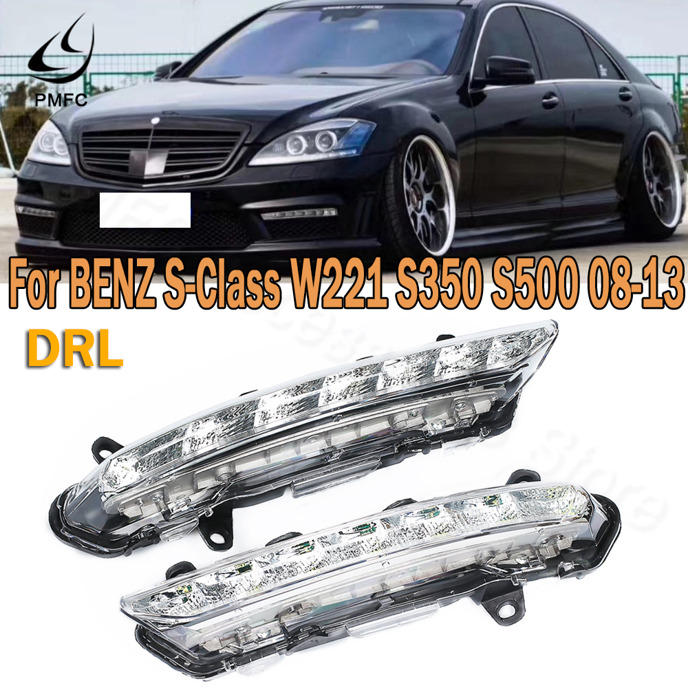 PMFC DRL Fog Lamp LED Daytime Running <font><b>Light</b></font> For Mercedes <font><b>BENZ</b></font> S-Class <font><b>W221</b></font> S350 S500 C250 C300 2008-2013 2218201756 2218201856 image