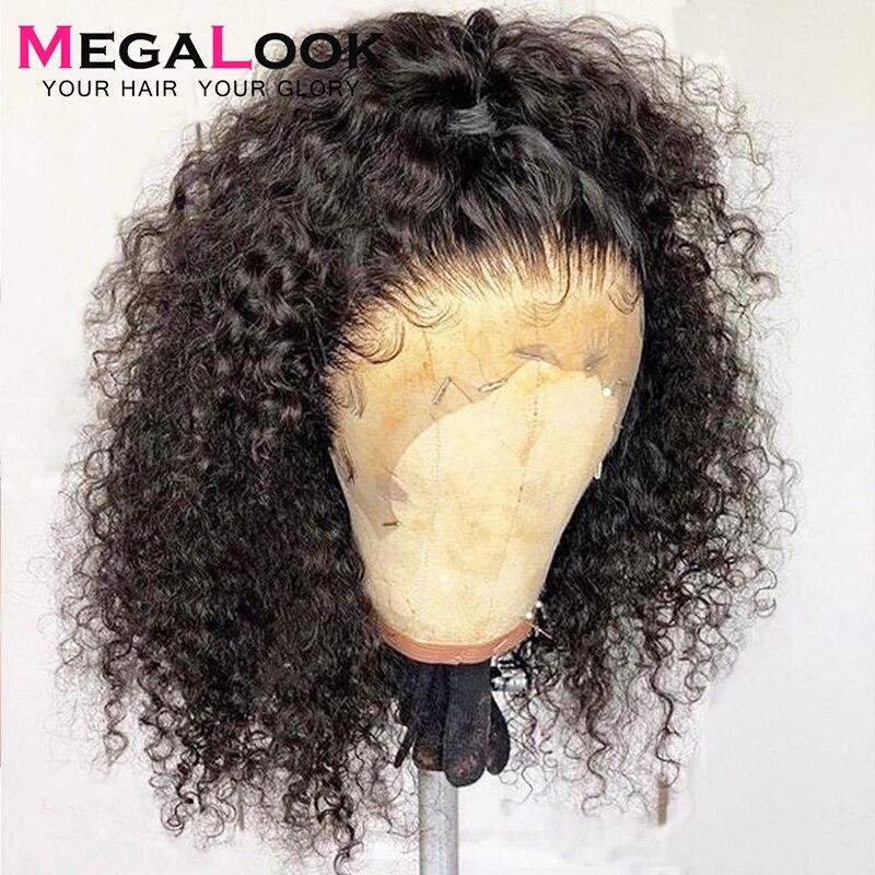 Kręcone ludzkie włosy peruki 13x6 koronkowa peruka na przód Remy peruwiański peruki typu lace front dla czarnych kobiet 180 13x4 ludzki włos koronki przodu perukaPeruki z ludzkich włosów na siatce   -