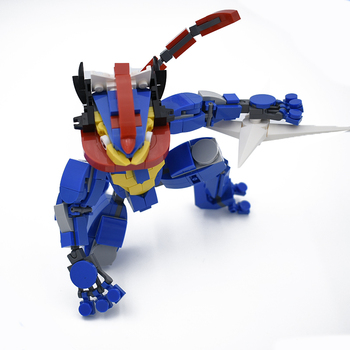 Greninja Building Blocks Toys For Children Pokemones Action Figure Model Kids Toy Original Design Assembling Bricks Toy 2