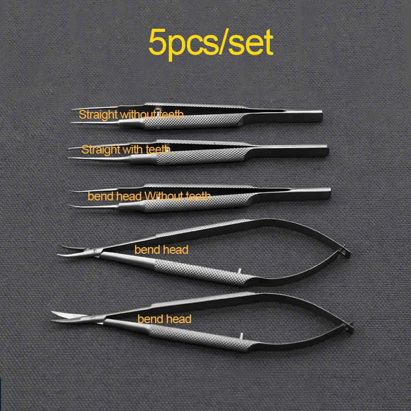 Conjunto de instrumentos de aço inoxidável forcepagulha
